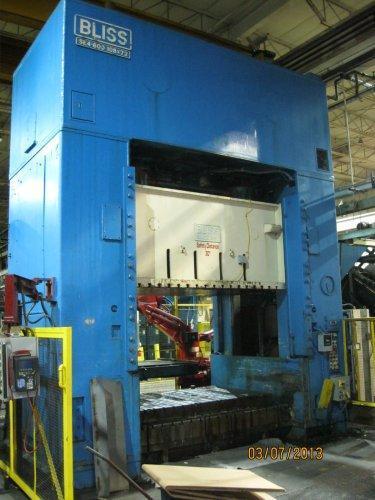 600 Ton Bliss SE4-600-108-72 Straight Side Press