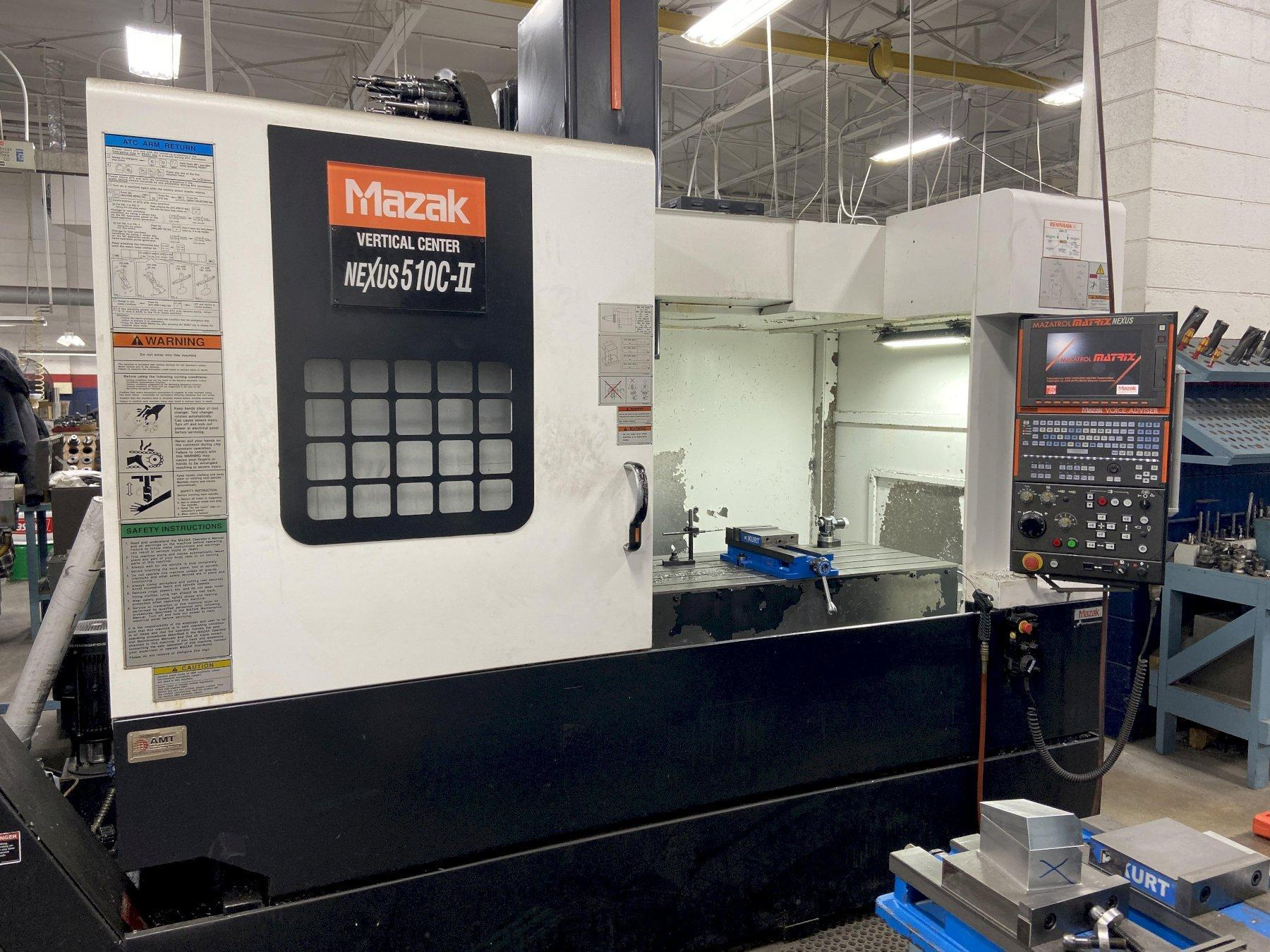 Mazak VCN510C-II CNC Vertical Machining Center, Nexus, 12K Spindle, 41