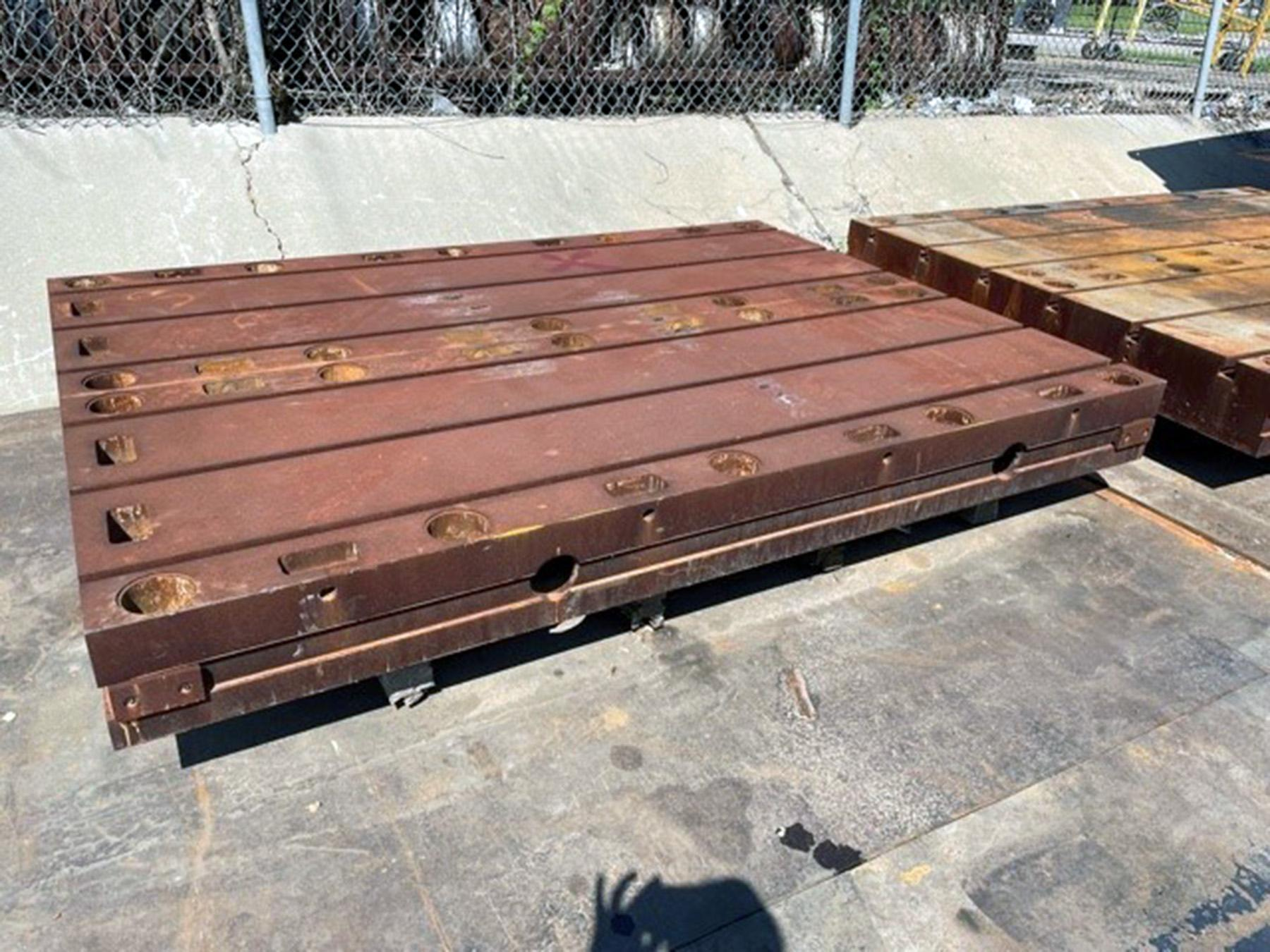 """USED, (4) 96"""" x 36"""" x 9"""" THICK FLOOR PLATES"""