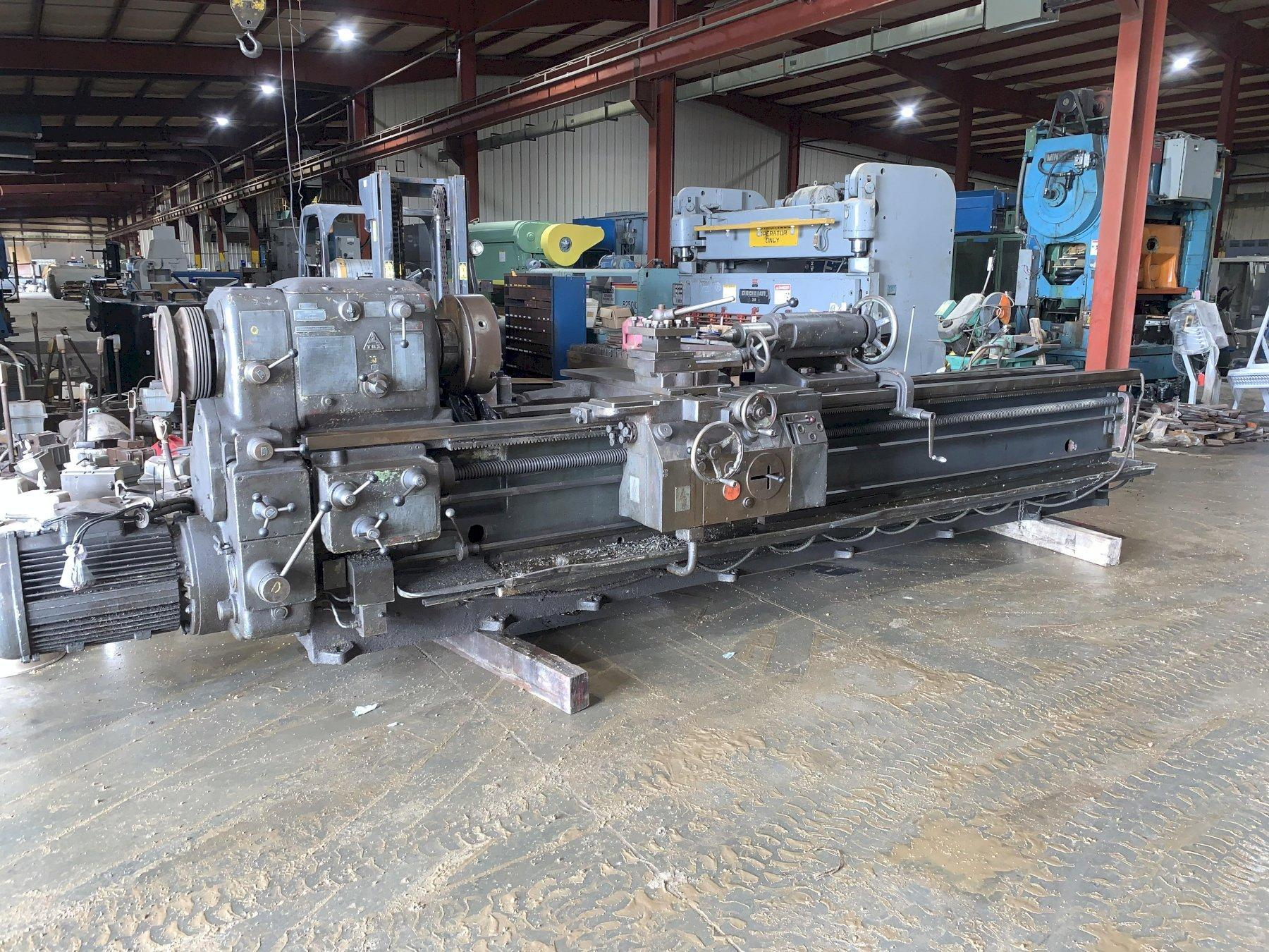 1 - PREOWNED TOS-CELAKOVICE GAP BED ENGINE LATHE, MODEL #: SU-63A, S/N: 0424424
