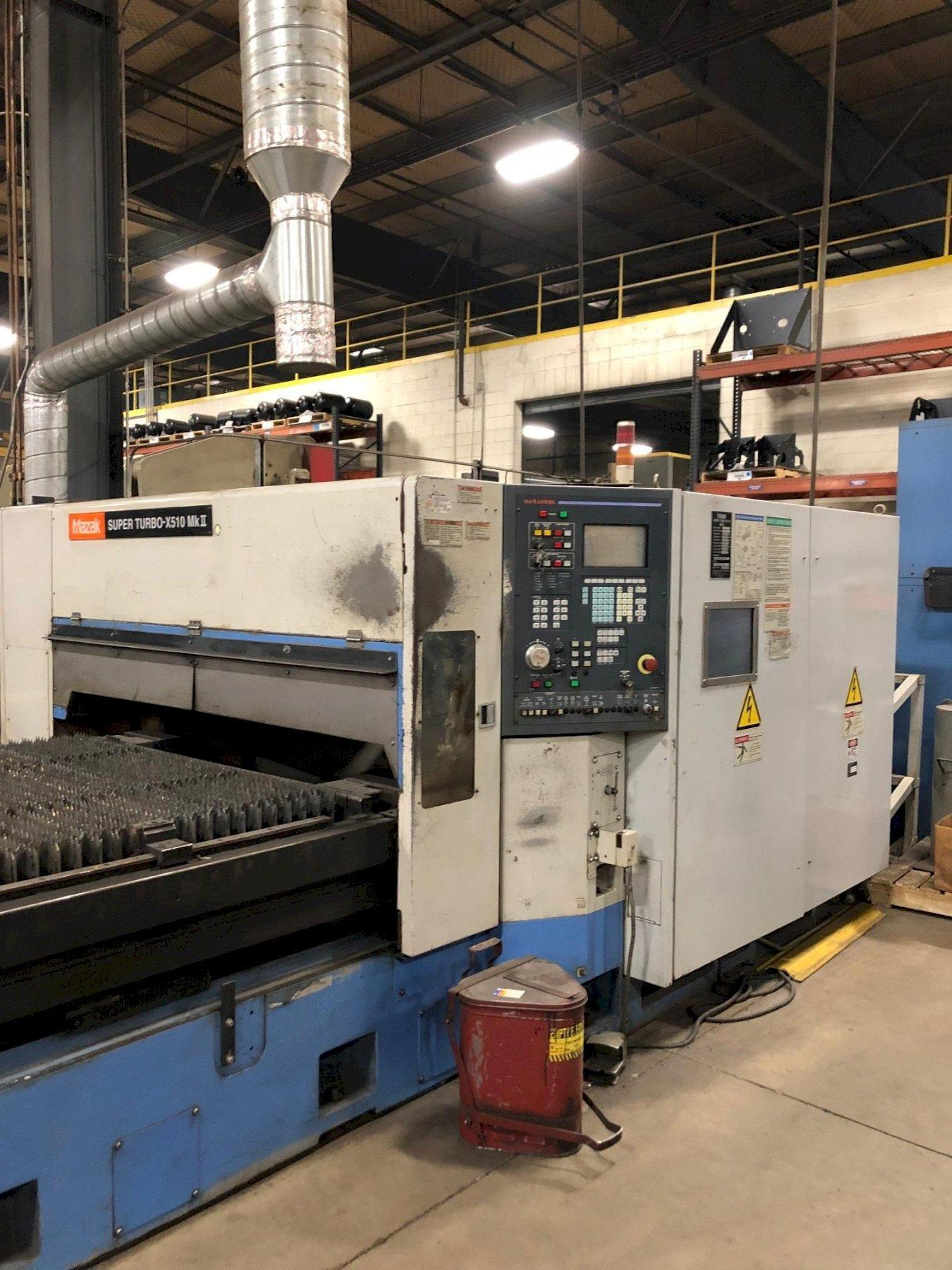 2001 Mazak STX510 Mark-II, 5x10, 4000 Watt Co2 Laser