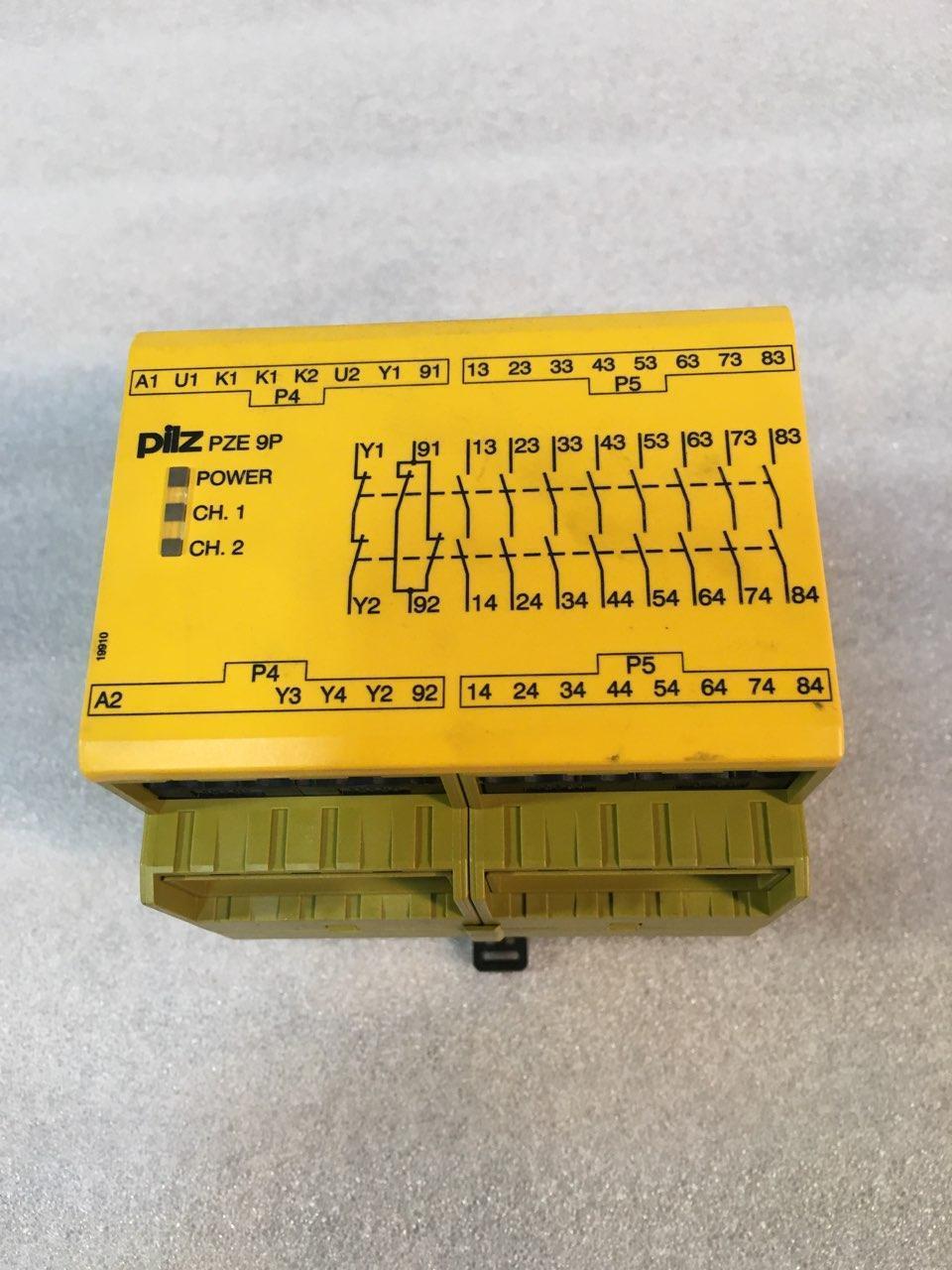 PILZ PZE 9P SAFETY RELAY, 777140, 24 VACDC  8n/o 1n/c, 3VA/3W, 50-60 Hz