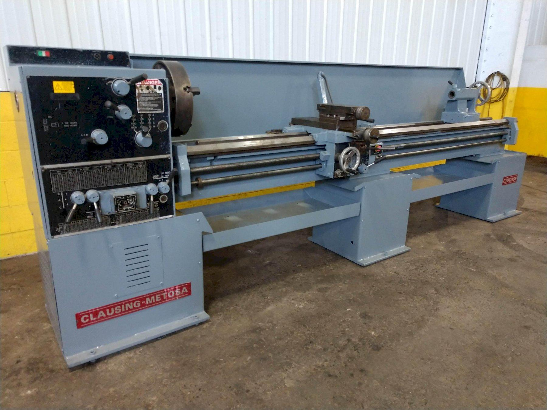 "20"" X 120"" CLAUSING METOSA MODEL #C20124SS ENGINE LATHE: STOCK #12120"