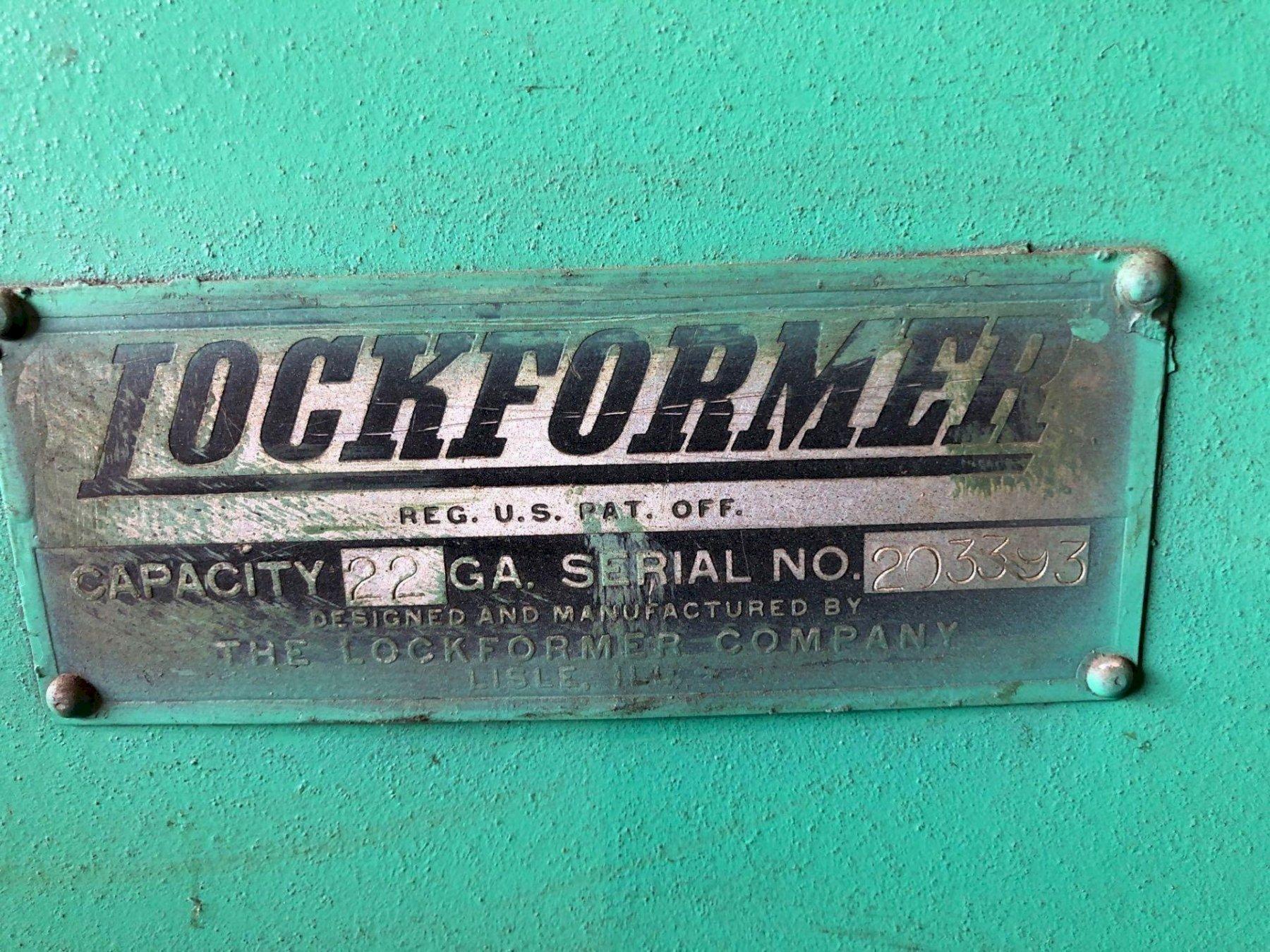 22 GA LOCKFORMER MACHINE. STOCK # 0415421