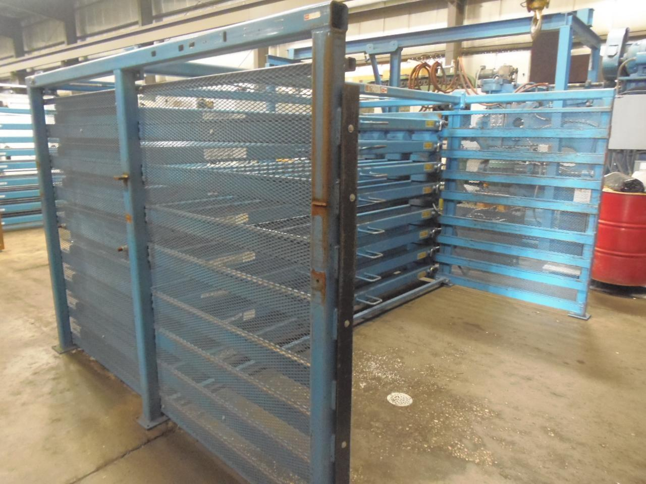 """48"""" x 120"""" ROLL OUT SHEET RACK WITH 8 SHELVES, MODEL 6H-48X120R, 5000 LB CAPACITY EACH"""