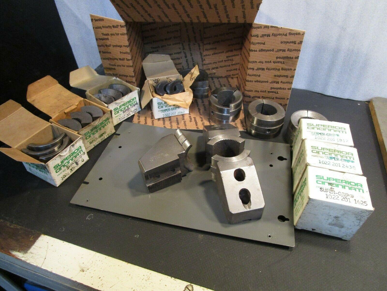 """10"""" CNC Huron Collet Jaws with 12 set of Collet Pads From Kitagawa B210 Chuck"""