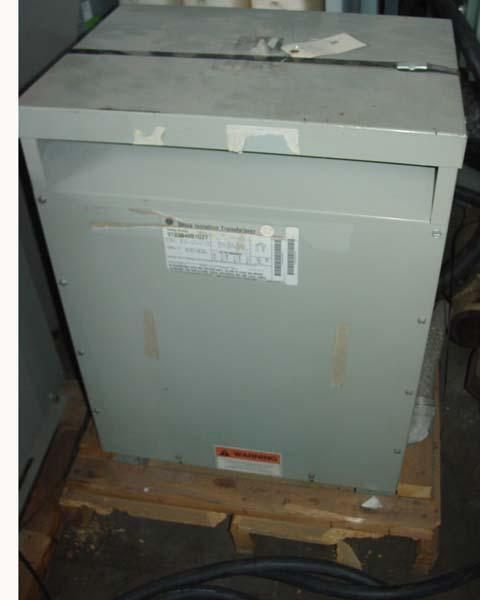 20 KVA GENERAL ELECTRIC DRIVE ISOLATION 3 PHASE 60 CYCLE  TRANSFORMER, 575 Volt Pri, 230/133 Secondary, Multi Tap 547-604V, Dry Type.