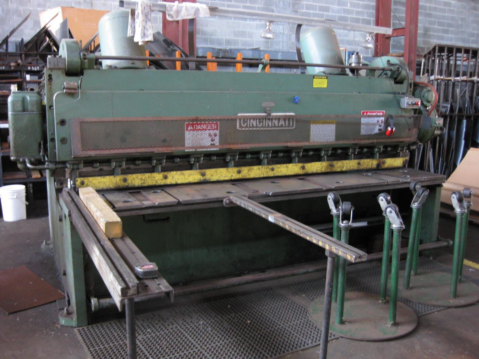 "10' x 3/8"" Cincinnati 2510 Mechanical Squaring Shear"
