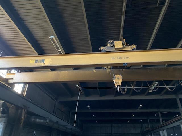 15 Ton MPH Top Running Double Girder Overhead Bridge Crane