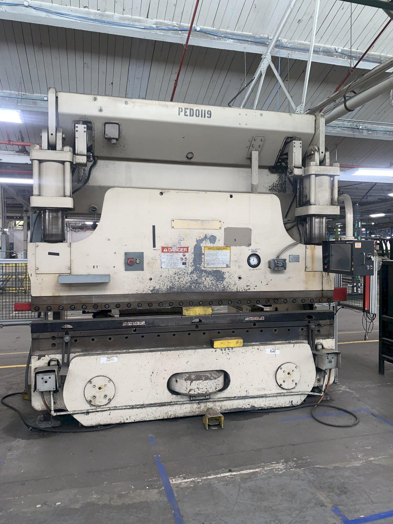 175 TON X 10' CINCINNATI MODEL #175-8AS HYDRAULIC CNC PRESS BRAKE WITH UPGRADED TOUCHSCREEN CONTROLS. STOCK # 1801320