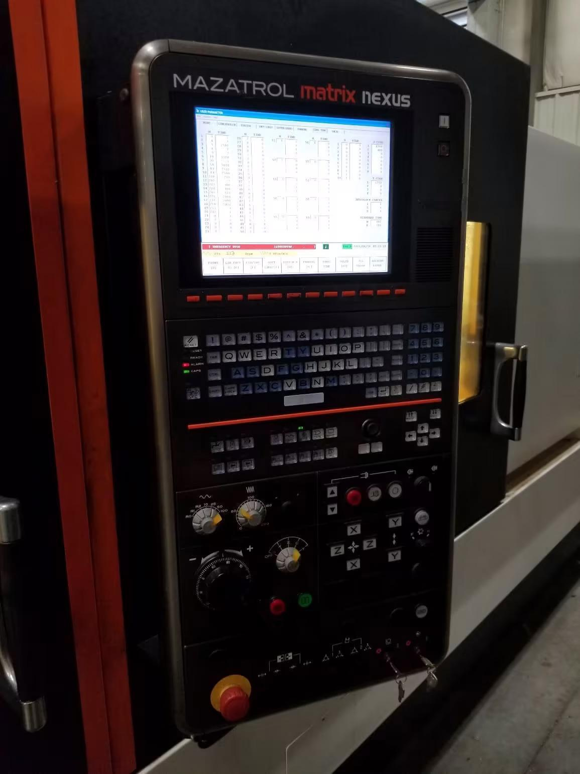 """MAZAK QUICK TURN NEXUS 350-II MY CNC LATHE, Matrix Nexus CNC Control, 29.5"""" Swing, 82"""" Between Centers, 12"""" 3-Jaw Hyd. Chuck, 4000 RPM Main Spindle,  4"""" Bar Capacity, C-Axis, Y-Axis, 12-Position Turret with Live Tooling, Tool Setter, Chip Conveyor, New 2012."""