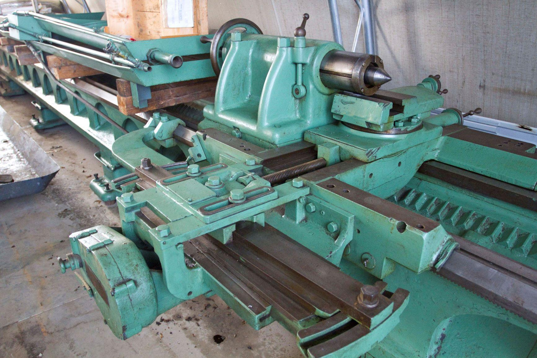 "Lehman Model 2516 Manual Lathe 30"" swing, 16"" over cross slide, 30' between centers, 9.57"" spindle bore"