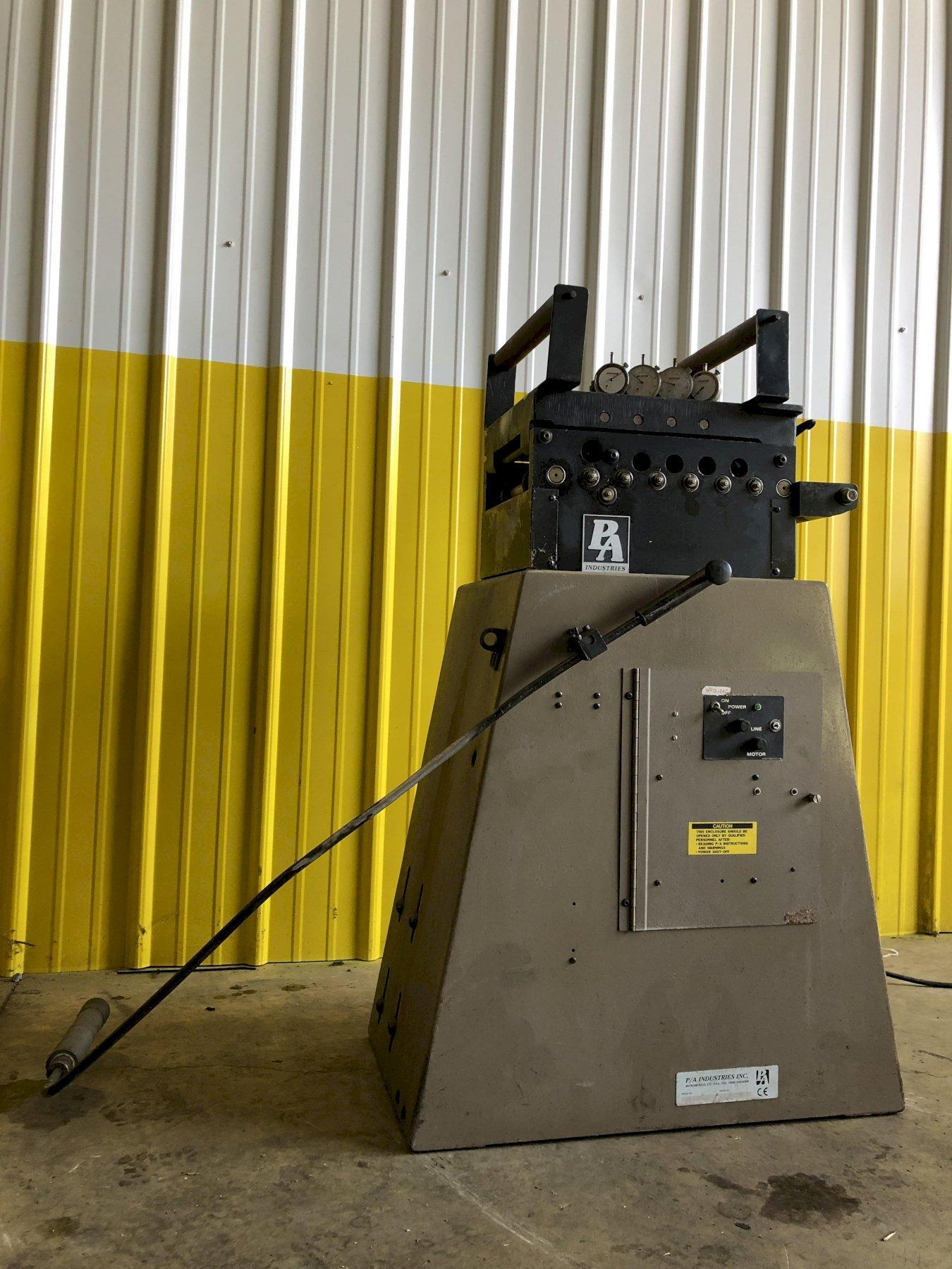"""8"""" X .020""""  PA INDUSTRIES MODEL #HS5-89D 9-ROLL POWERED STRAIGHTENER : STOCK #15448"""