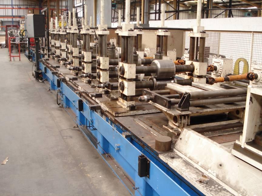 """6"""" (150mm) Gebr Keller Gmbh Stainless Tube Mill Line 1992"""