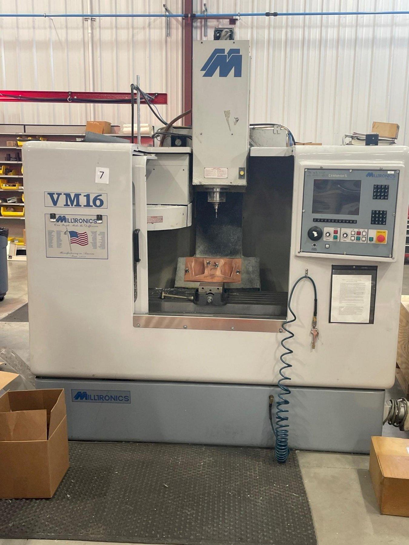 MILLTRONICS VM16 CNC VERTICAL MACHINING CENTER