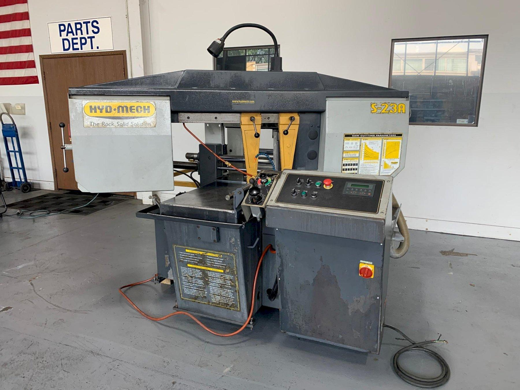 """USED HYD-MECH 16"""" X 18"""" FULLY AUTOMATIC MITERING HORIZONTAL BANDSAW MODEL S-23A, Stock no. 10682, Year 2005"""