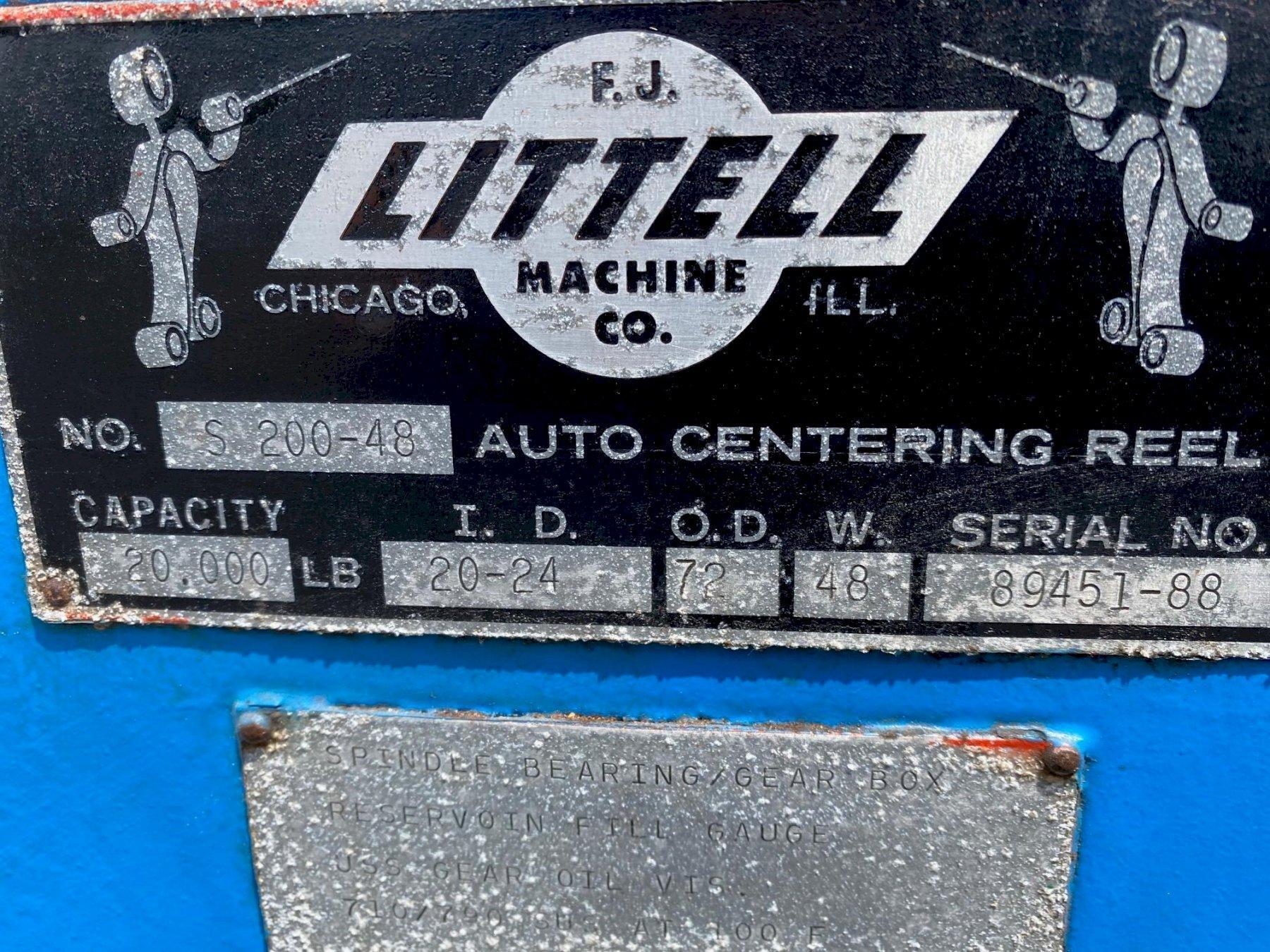 """48"""" x 20,000# Littell Mandrel Uncoiler"""