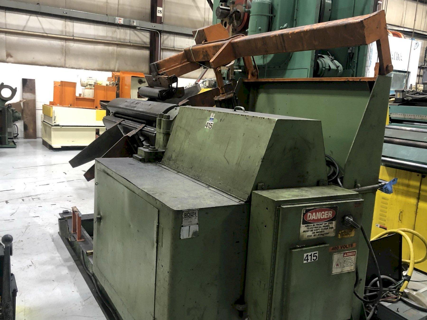 20,000 lbs Rowe Coil Reel Motorized Model# 20060DSV Uncoiler
