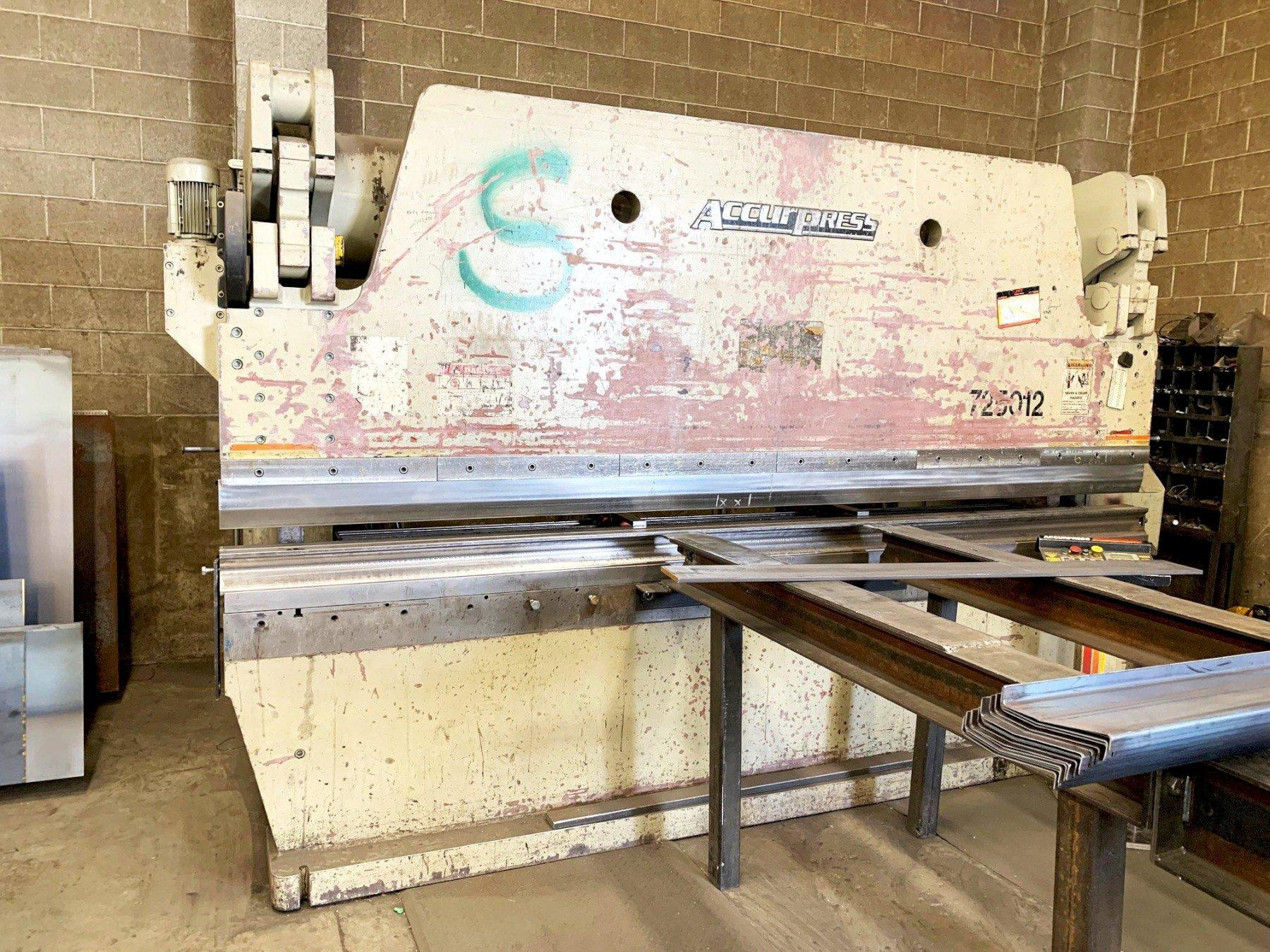 250 Ton x 12' Accurpress 725012 Hydraulic Press Brake