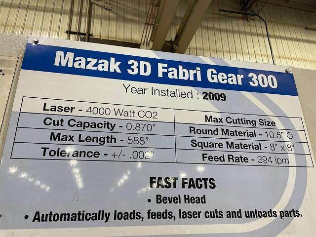 2008 Mazak Fabri Gear 300, CNC Tube Laser