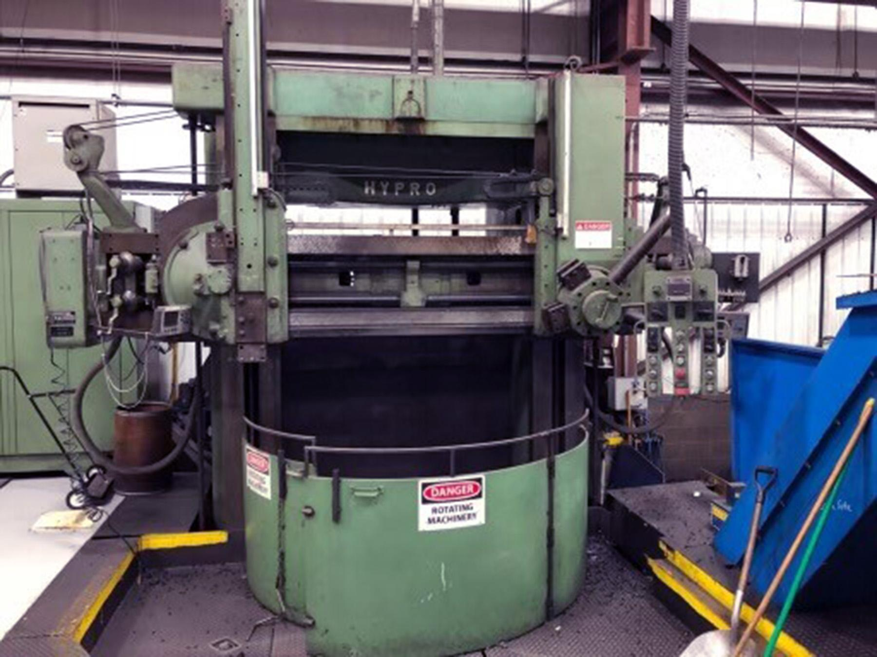 "USED, 72"" GIDDINGS & LEWIS HYPRO VERTICAL BORING MILL"