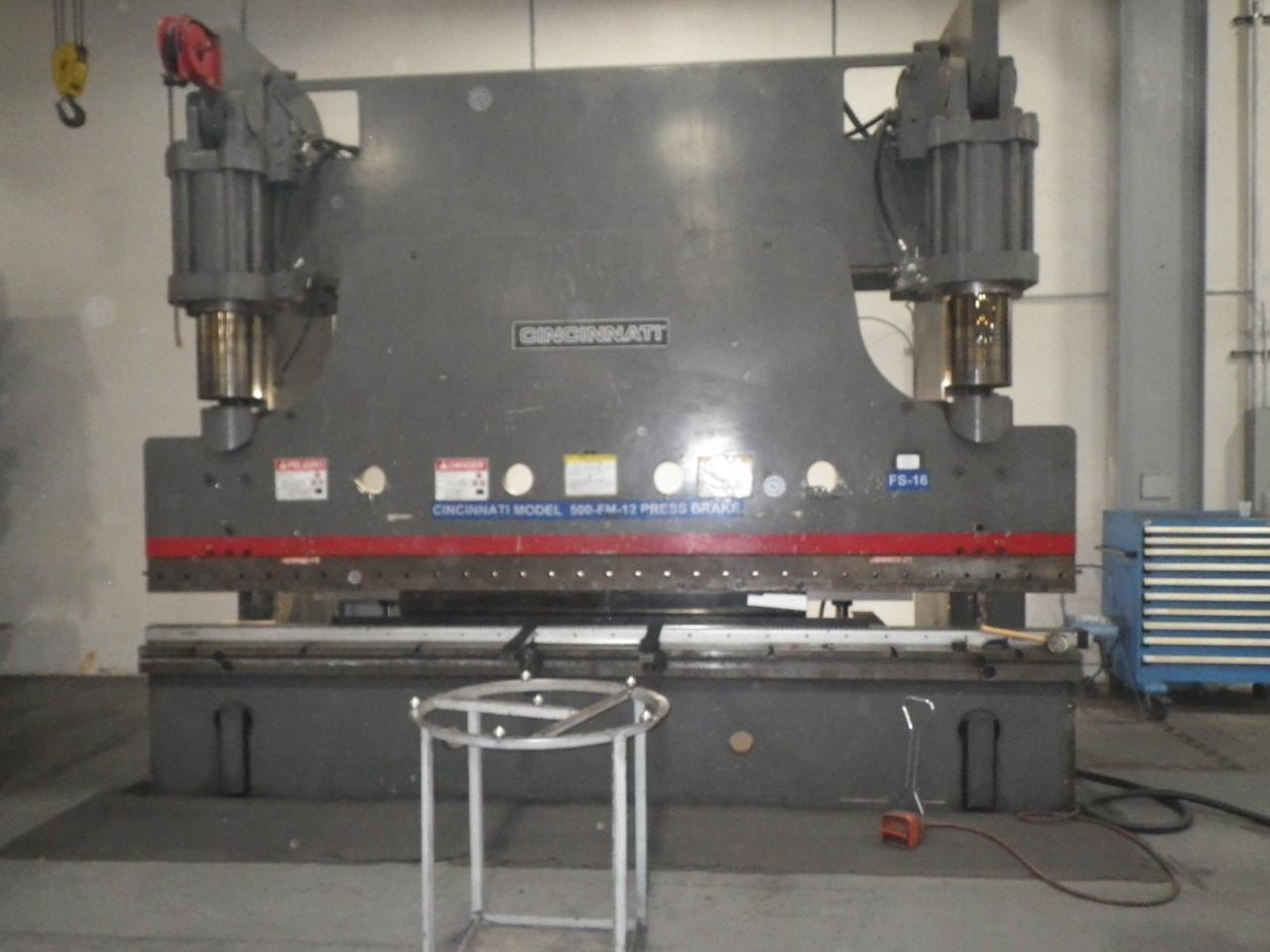"""1998 """"Rebuilt 2018"""" Cincinnati FM500x12, 14' x 500 Ton CNC Hydraulic Press Brake"""