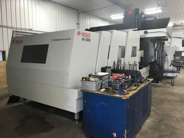 (2012) FEELER MODEL FV-3225 CNC BRIDGE MILL. STOCK # 1059520