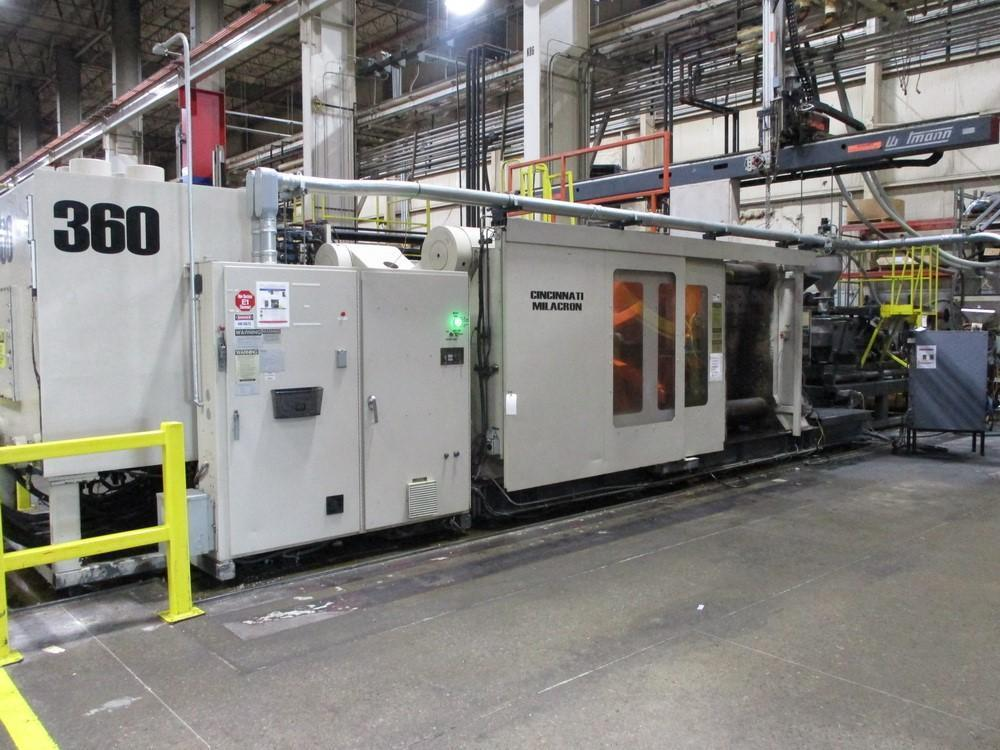 1500 TON CINCINNATI MILACRON VL-1500-181 INJECTION MOLDING MACHINE. STOCK # 1058820