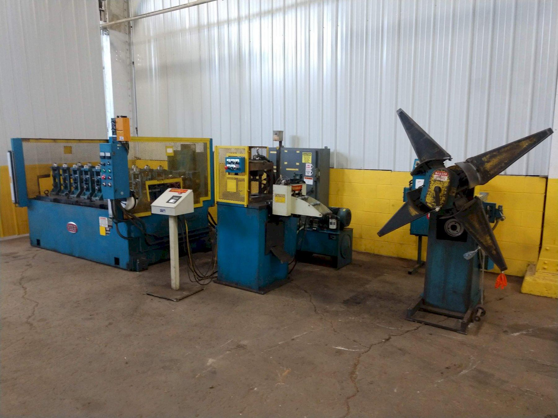 "8 STAND x 1.5"" YODER RAFTED ROLL FORMER LINE; COIL REEL, SERVO FEED, PUNCH, MILL: STOCK #13262"