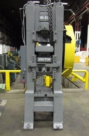 250 TON MINSTER MODEL #90 KNUCKLE JOINT PRESS: STOCK 10128