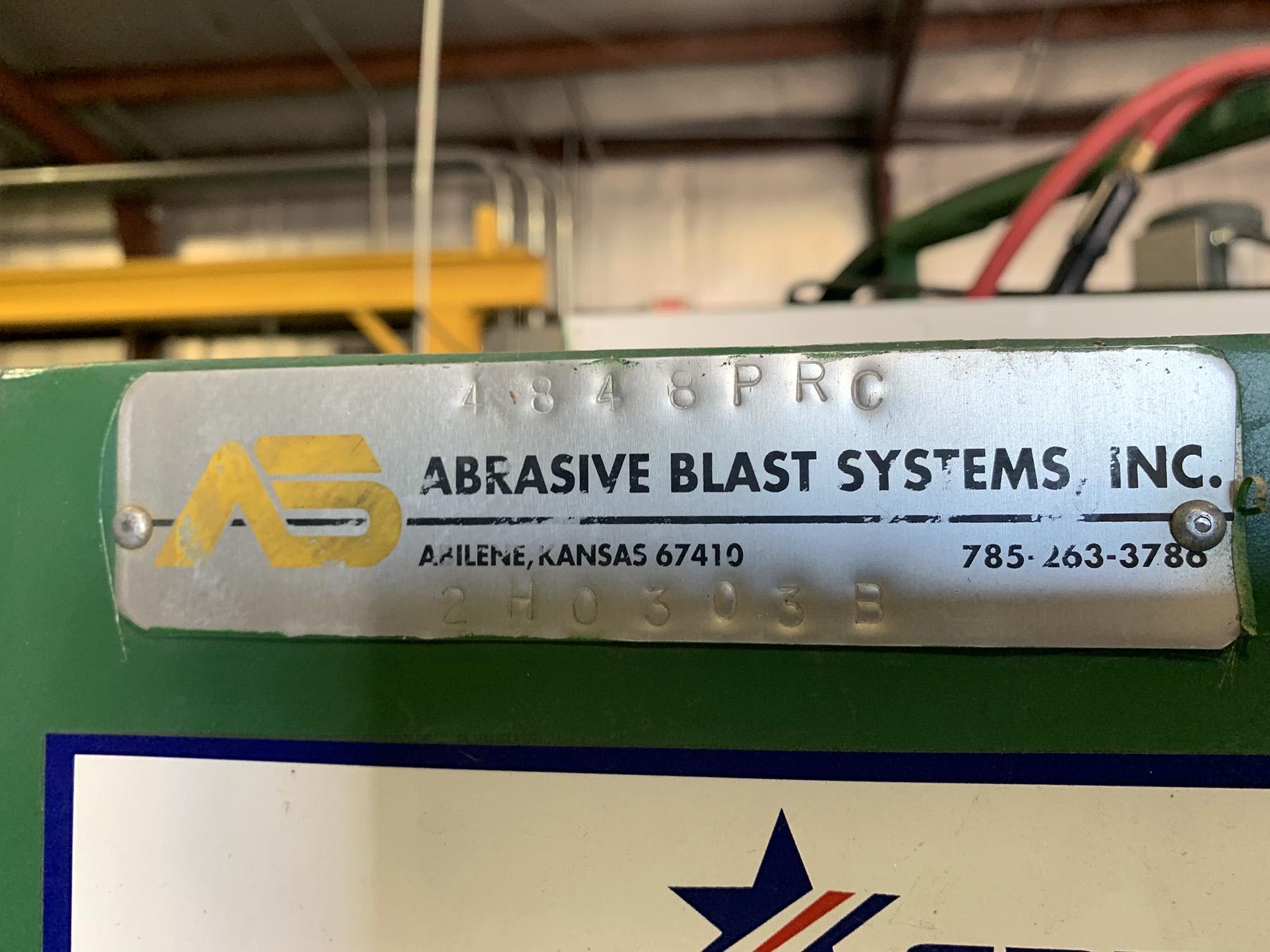 USED, ABRASIVE BLAST SYSTEMS INC. MODEL 4848PRC BLAST CABINET