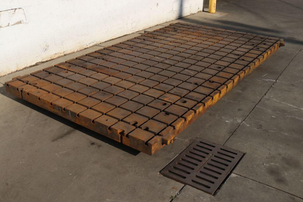 78' X 144' X 4-1/2' SOILD STEEL T SLOTTED PLATE: STOCK #73342