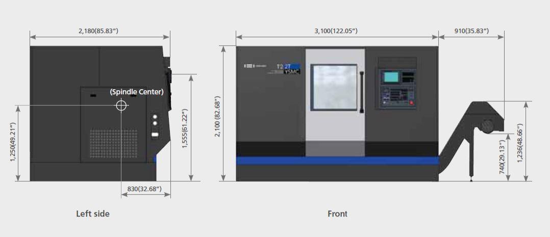Hwacheon T2 2TYSMC CNC Horizontal Lathe