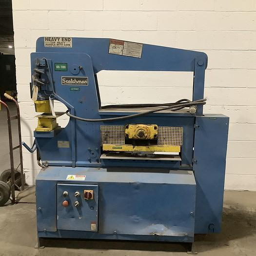 65 TON SCOTCHMAN HYDRAULIC IRONWORKER. STOCK # 0105121