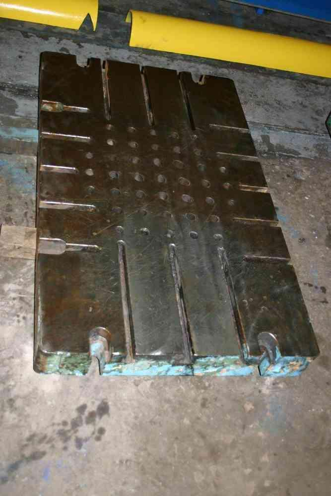 50' X 30' X 4-1/2' T SLOTTED BOLSTER PLATE:  STOCK #50428