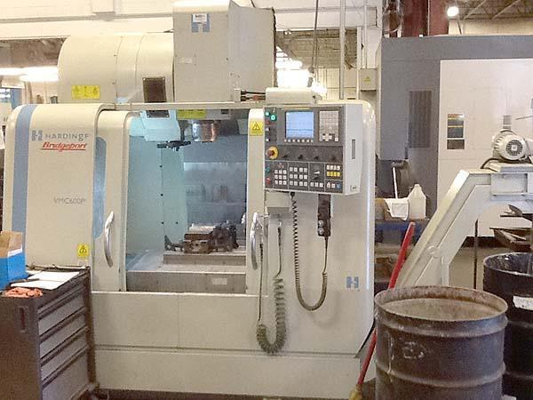 """HARDINGE VMC600P3, Fanuc 0i-MC CNC, X=23.6"""", Y=20, Z=20, 24Station Tool Changer,8000 RPM, 4th Axis Rotary Table, New 2007."""