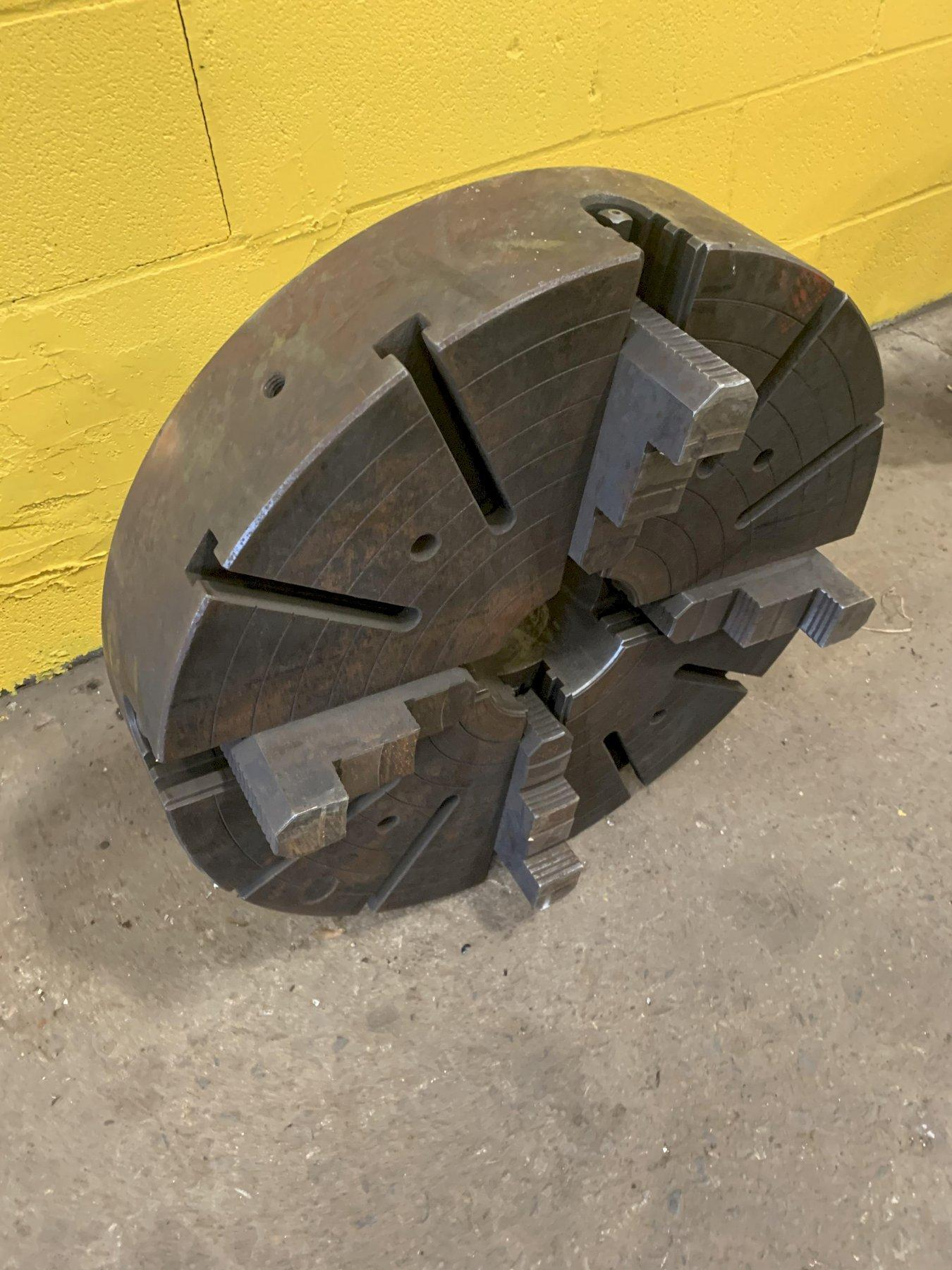 "23.75"" 4 JAW LATHE CHUCK WITH D-11 MOUNT: STOCK #12926"