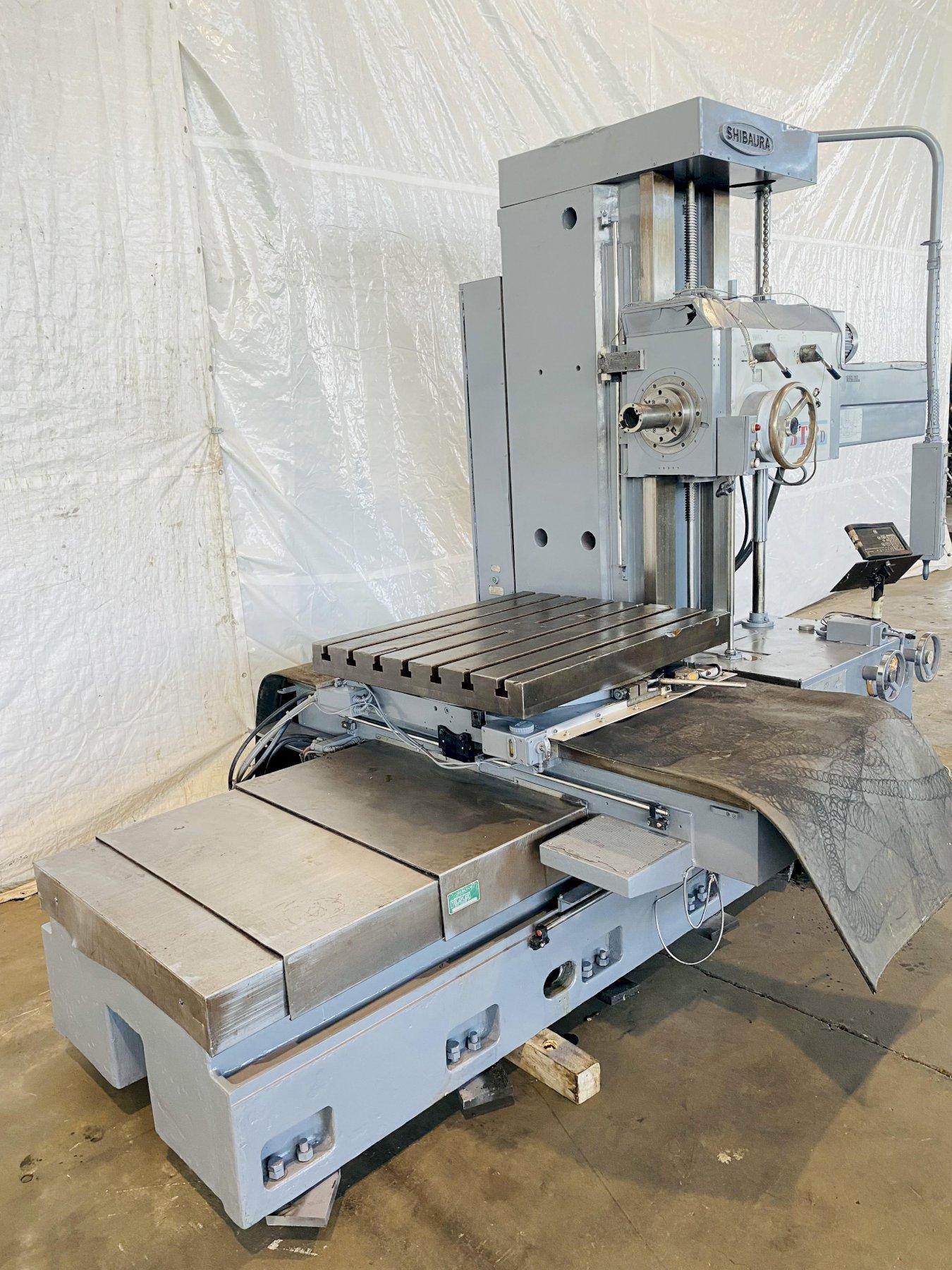 "3"" SHIBAURA BT-8D(R) 50 TAPER TABLE TYPE HORIZONTAL BORING MILL. STOCK # 0844421"