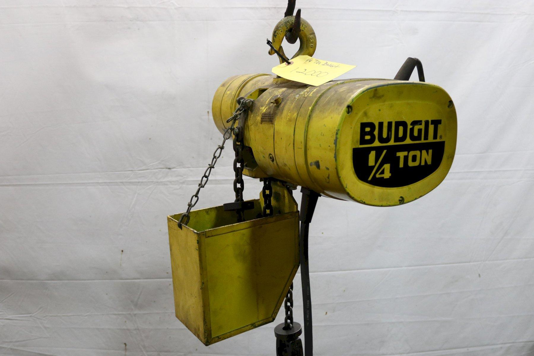 1/4 TON BUDGIT ELECTRIC POWERED CHAIN HOIST: STOCK #12000