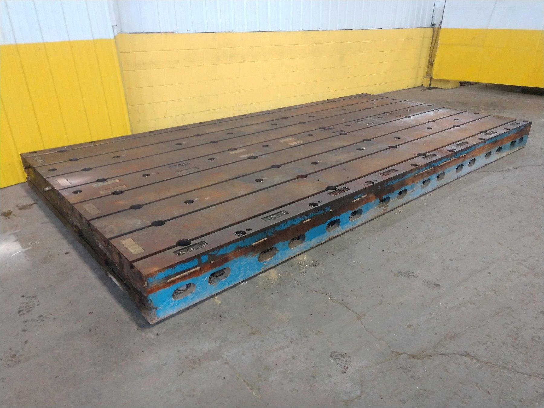 16' X 8' T SLOTTED FLOOR PLATE LAYOUT TABLE:  STOCK #13574