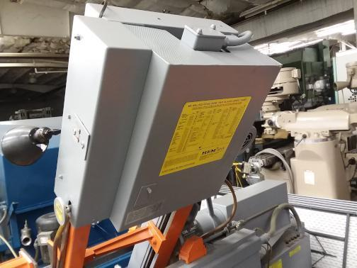 1 - PREOWNED HEMSAW AUTOMATIC HIGH SPEED VERTICAL PRODUCTION STEEL BAND SAW, MODEL #: V100A, S/N: 318190