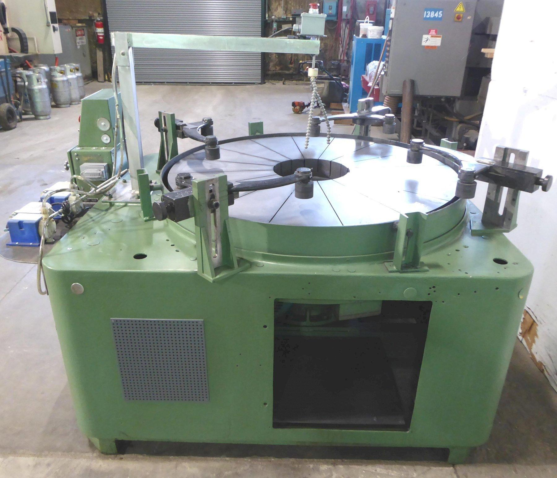 """48"""" Lapmaster Lapping Machine No. 48C, (4) Rings, Open Face, 10 HP, Clean"""