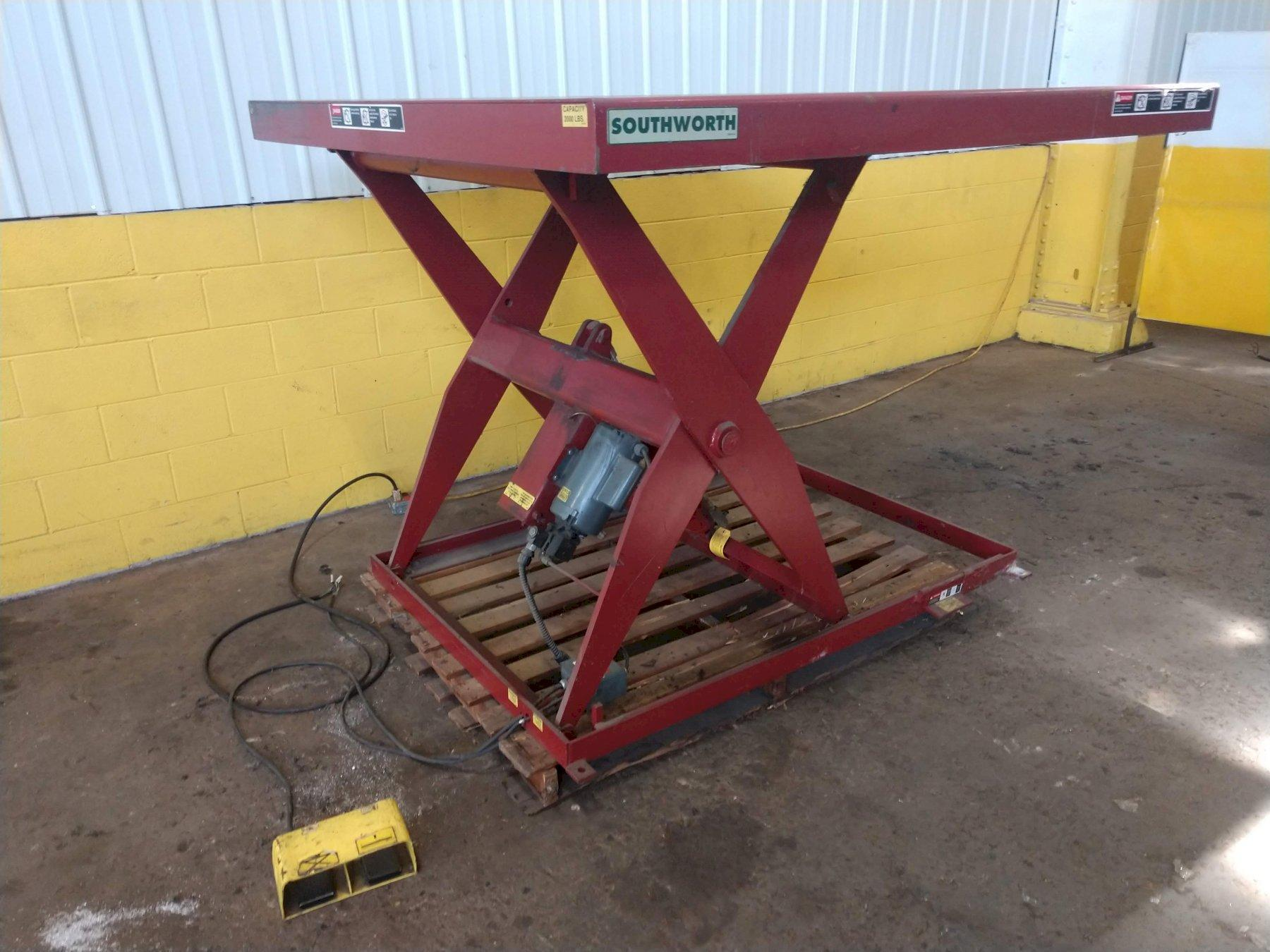 "2,000 LB X 72"" X 72""' ELECTRIC SCISSOR LIFT TABLE: STOCK #13268"