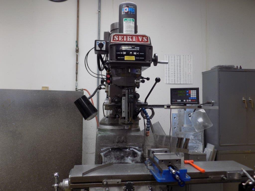 SEIKI Model 3VH Variable Speed Vertical Knee Mill, S/N 10801, New 2002.
