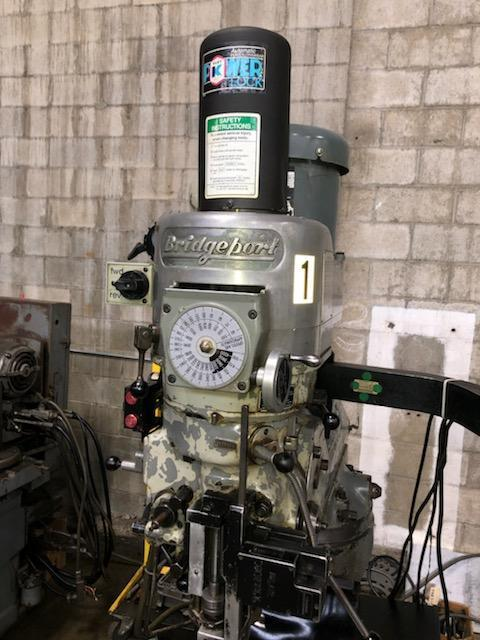 """BRIDGEPORT SERIES 1 CNC MILLING MACHINE, Southwest Industries SWI MX-2 Proto Trak CNC Control, 9"""" x 48"""" Table, 2 HP Variable Speed Head, 4000 RPM, 2-Axis CNC with Feedback on the Quill, Power Drawbar, New 1977/Retrofit 2005."""