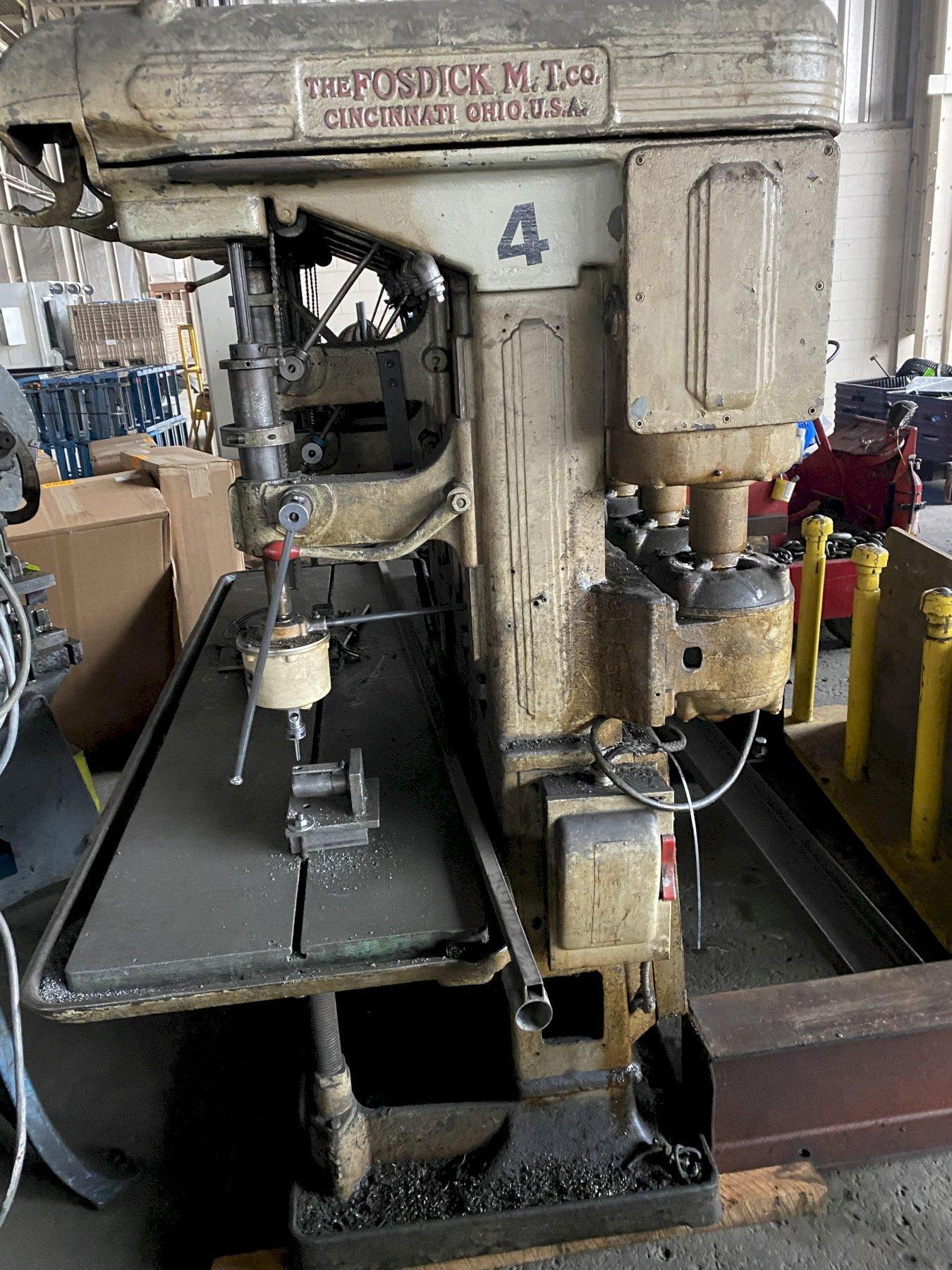 "Fosdic 24"" 6-Spindle Drill Press w/ 3 Tapping Heads"