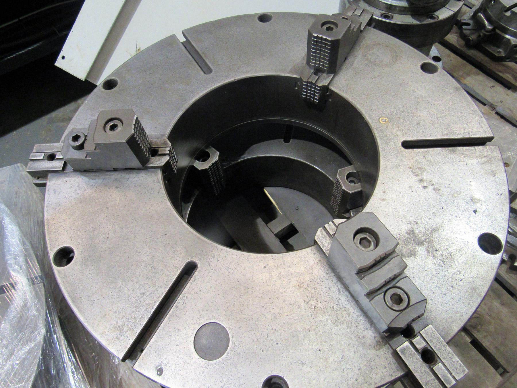 """USED, 32"""" BUCK 3-JAW UNIVERSAL CHUCK WITH 15"""" THROUGH-HOLE"""
