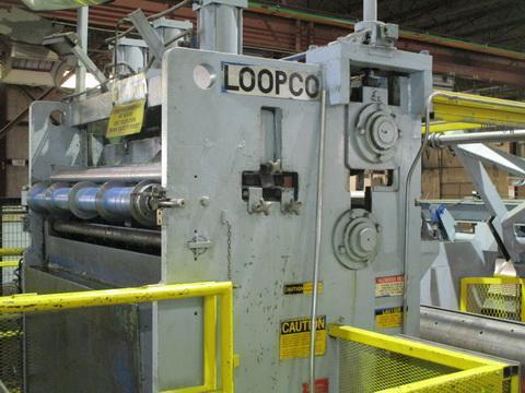 "60"" x .140"" x 40,000# Loopco Loop Slitting Line with 2 Heads"