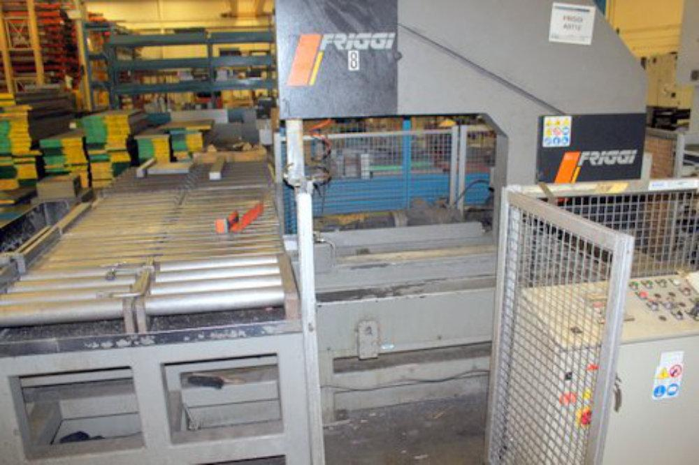 "USED FRIGGI AST 1200 X 400 BLOCK AND PLATE SAW, Model AST 1200 x 400, 47.24"" x 15.75"", Stock No. 10423"
