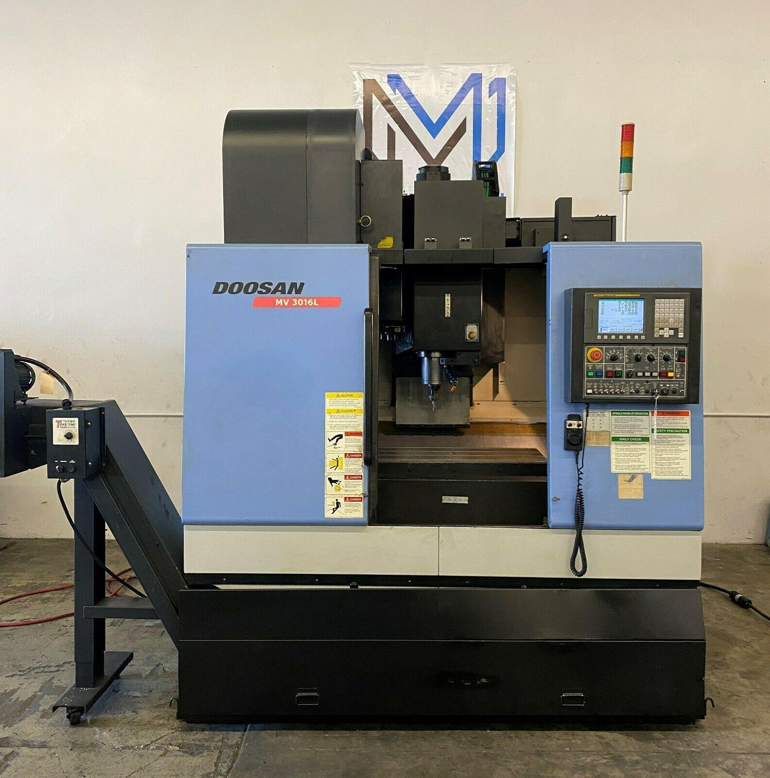 DOOSAN MV3016L CNC VERTICAL MACHINING CENTER